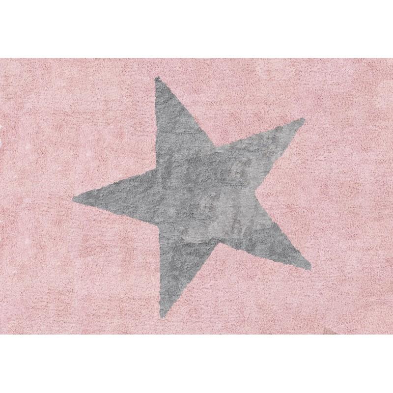Alfombra estela aratextil 120x160 rosa gris beb polis for Alfombra 120x160