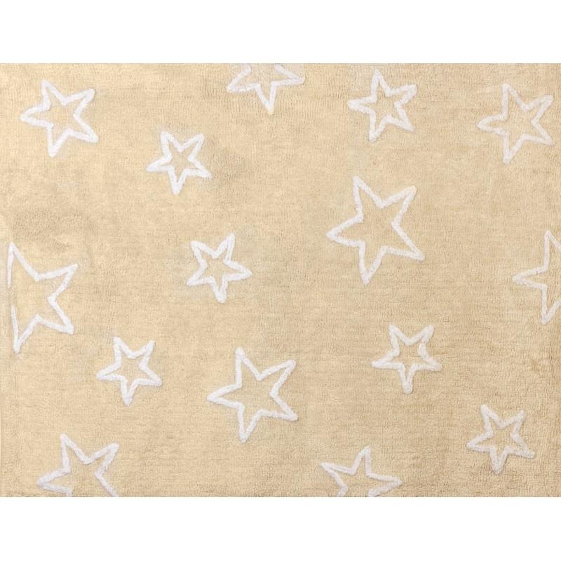 Alfombra estrella aratextil 120x160 beige beb polis for Alfombra 120x160