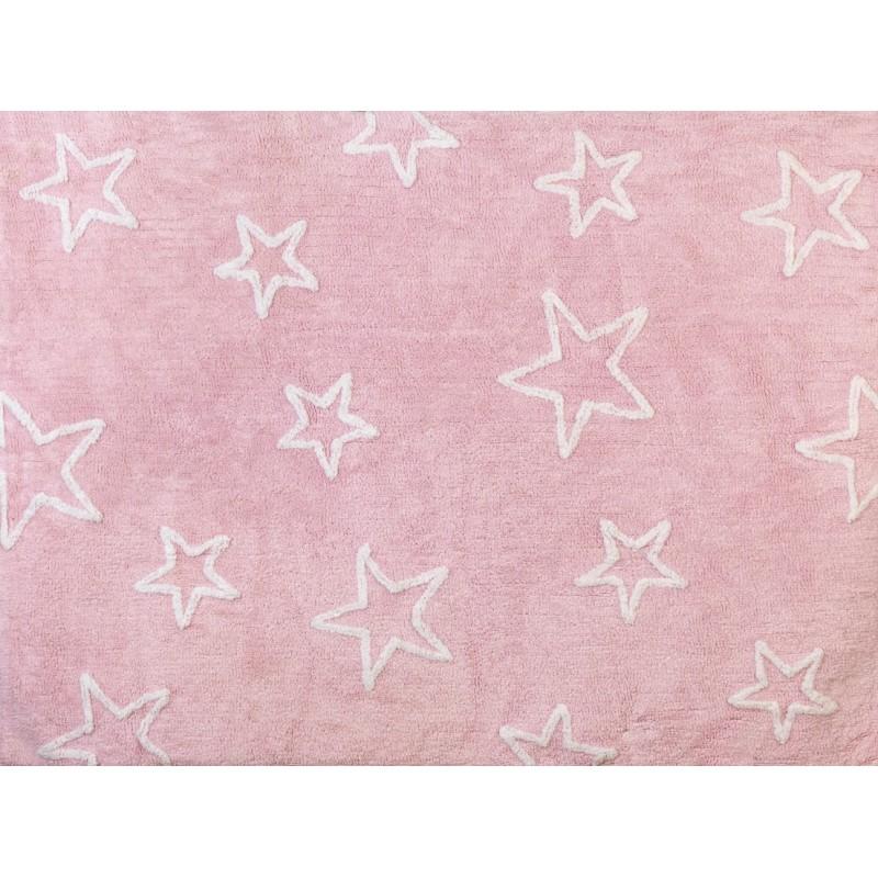 Alfombra estrella aratextil 120x160 rosa for Alfombra 120x160