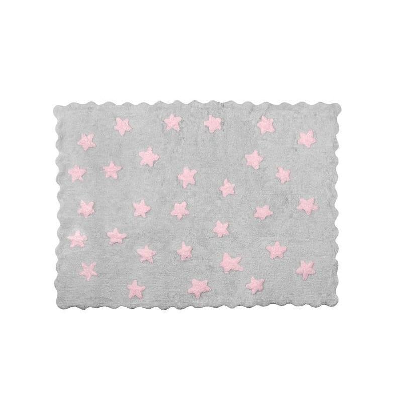 Alfombra ed n aratextil 120x160 gris rosa beb polis for Alfombra 120x160