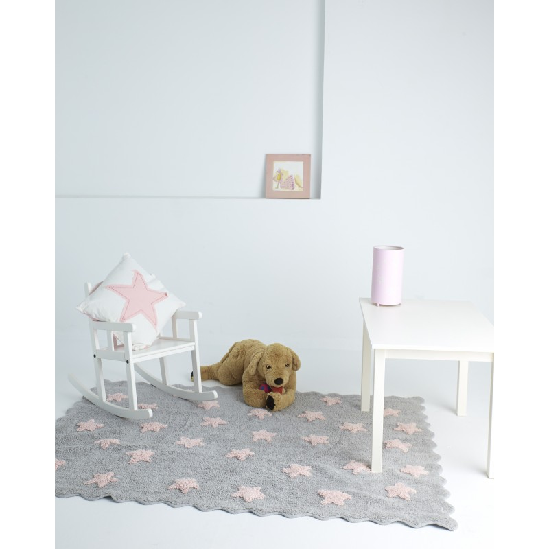 Alfombra ed n aratextil 120x160 gris rosa beb polis for Eden del mueble