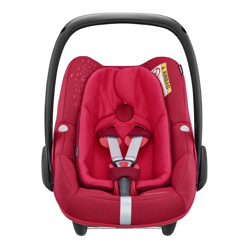 Silla de auto pebble plus i size grupo 0 vivid red de for Bebe en silla de auto