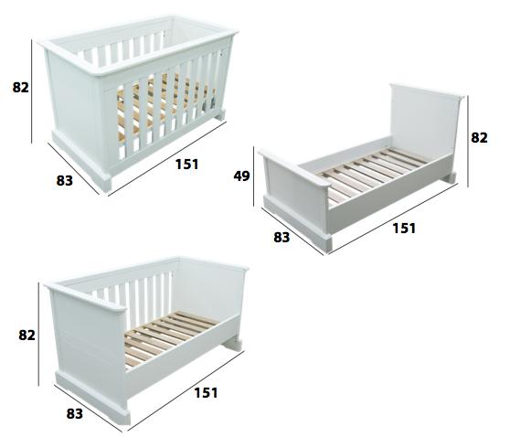 Cuna cama sof a 70x140 de n vol for Que medidas tiene una cama matrimonial