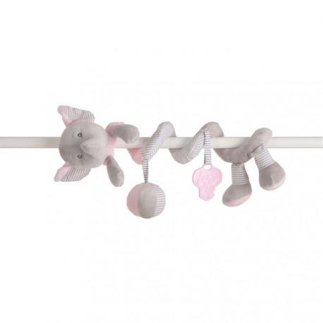 Sonjero espiral elefantito rosa de Creaciones LLopis