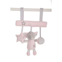 Sonjero para colgar elefantito rosa de Creaciones LLopis