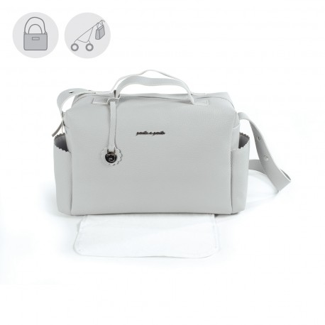 Bolso Maternal Biscuit Gris Pasito a Pasito