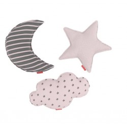Set 3 Cojines Little Star Rosa de Baby Clic