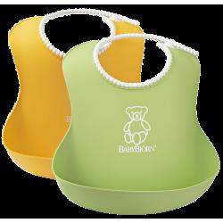 Babero Suave de BabyBjörn  Pack 2 amarillo/verde