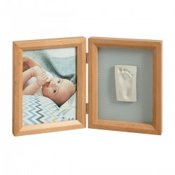 Marco doble Print Frame madera de Baby Art color blanco