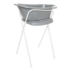 Bañera bebé Babybath Grey con soporte y desagüe Bébéjou 8714929400583