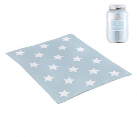 Manta de Algodón Star Celeste 80x100 cm de Cambrass