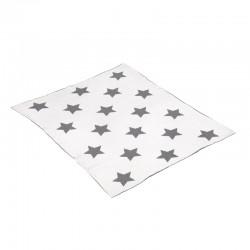 Manta de Algodón Star Gris 80x100 cm de Cambrass