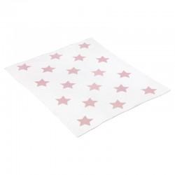 Manta de Algodón Star Rosa 80x100 cm de Cambrass