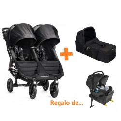 Duo City Mini GT Negra Gemelar de Baby Jogger