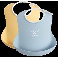 Baberos Suave Amarillo/ Azul Pastel de BabyBjörn