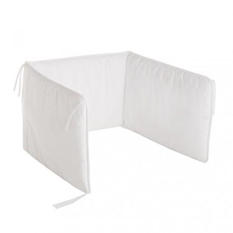 Protector de cuna 60 Liso de Cambrass blanco
