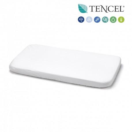 Sábana Bajera Impermeable Minicuna Tencel blanca de Cambrass