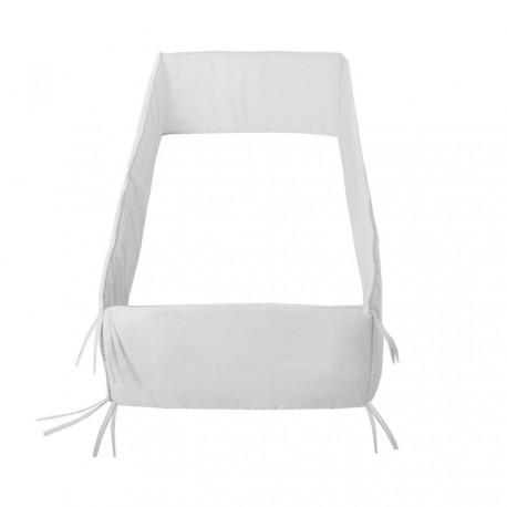 Protector 360  de cuna Liso de Cambrass Blanco