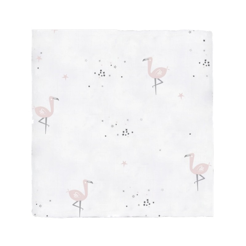 Bimbidreams Muselina Bambú Flamingo