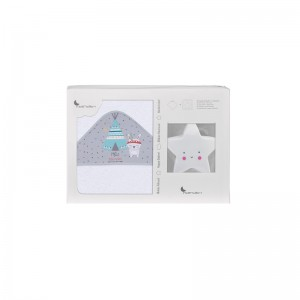Interbaby Set Capa de Baño Tipi Oso+ Lamparita Estrella
