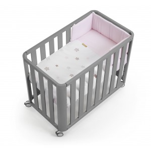 Cotinfant Minicuna Colecho DOCO Sleeping GRIS + TEXTIL star rosa VMIDOCGRSRS