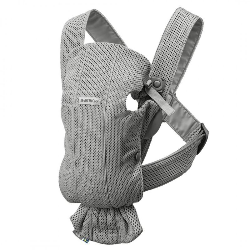 BabyBjörn Mochila portabebés Mini 3D mesh Gris